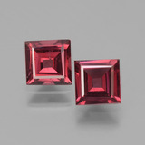 thumb image of 1.5ct Square Facet Pinkish Rose Rhodolite Garnet (ID: 431594)