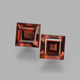 thumb image of 0.7ct Square Facet Medium Red Rhodolite Garnet (ID: 431635)