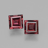 thumb image of 1.3ct Square Facet Pinkish Rose Rhodolite Garnet (ID: 431637)
