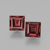 thumb image of 1.5ct Square Facet Pinkish Rose Rhodolite Garnet (ID: 431638)