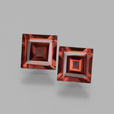 thumb image of 1.3ct Square Facet Pinkish Rose Rhodolite Garnet (ID: 431643)