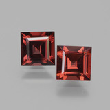 thumb image of 1.6ct Square Facet Pinkish Rose Rhodolite Garnet (ID: 431653)