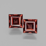 thumb image of 1.5ct Square Facet Pinkish Rose Rhodolite Garnet (ID: 431654)