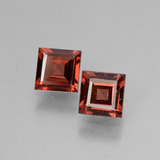 thumb image of 1.5ct Square Facet Pinkish Rose Rhodolite Garnet (ID: 431704)
