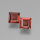 thumb image of 1.5ct Square Facet Pinkish Rose Rhodolite Garnet (ID: 431741)