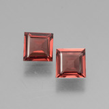 thumb image of 1.3ct Square Facet Pinkish Rose Rhodolite Garnet (ID: 431744)