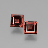 thumb image of 1.3ct Square Facet Pinkish Rose Rhodolite Garnet (ID: 431747)