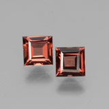thumb image of 1.5ct Square Facet Pinkish Rose Rhodolite Garnet (ID: 431750)