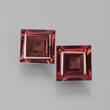 thumb image of 1.4ct Square Facet Pinkish Rose Rhodolite Garnet (ID: 431812)