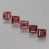 thumb image of 0.6ct Square Facet Merlot Red Rhodolite Garnet (ID: 431833)