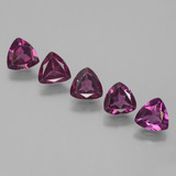 thumb image of 2.4ct Trillion Facet Pinkish Rose Rhodolite Garnet (ID: 432354)