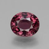 thumb image of 3.1ct Oval Facet Pinkish Rose Rhodolite Garnet (ID: 432477)