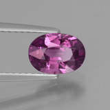 1.32 ct Oval Facet Purplish Pink Rhodolite Garnet Gem 7.67 mm x 5.4 mm (Photo B)