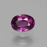 thumb image of 1.1ct Oval Facet Pinkish Rose Rhodolite Garnet (ID: 438669)