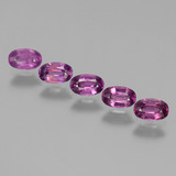 thumb image of 2.2ct Oval Facet Pinkish Rose Rhodolite Garnet (ID: 438801)