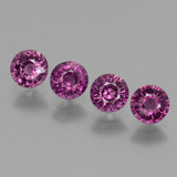 thumb image of 2ct Round Facet Pinkish Rose Rhodolite Garnet (ID: 439451)
