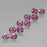 thumb image of 5.5ct Oval Facet Pinkish Rose Rhodolite Garnet (ID: 439580)