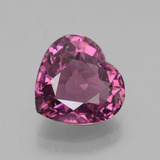 thumb image of 3.3ct Heart Facet Pinkish Rose Rhodolite Garnet (ID: 439706)