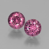 thumb image of 1.5ct Round Facet Pinkish Rose Rhodolite Garnet (ID: 440441)