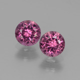 thumb image of 1.1ct Round Facet Pinkish Rose Rhodolite Garnet (ID: 440445)