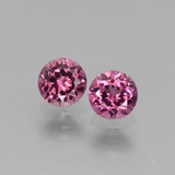 thumb image of 1.3ct Round Facet Pinkish Rose Rhodolite Garnet (ID: 440505)