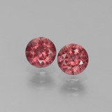 thumb image of 1.4ct Round Facet Pinkish Rose Rhodolite Garnet (ID: 440506)
