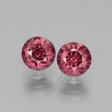 thumb image of 1.9ct Round Facet Pinkish Rose Rhodolite Garnet (ID: 440507)