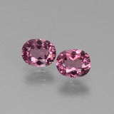 thumb image of 1.3ct Oval Facet Pinkish Rose Rhodolite Garnet (ID: 440576)