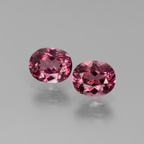 thumb image of 1.3ct Oval Facet Pinkish Rose Rhodolite Garnet (ID: 440577)