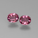 thumb image of 1.2ct Oval Facet Pinkish Rose Rhodolite Garnet (ID: 440578)