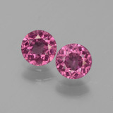 thumb image of 1ct Round Facet Pinkish Rose Rhodolite Garnet (ID: 440620)