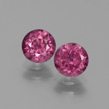thumb image of 1.5ct Round Facet Pinkish Rose Rhodolite Garnet (ID: 440628)