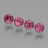 thumb image of 2.1ct Round Facet Pinkish Rose Rhodolite Garnet (ID: 440711)