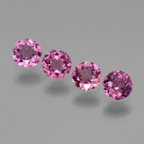 thumb image of 1.7ct Round Facet Pinkish Rose Rhodolite Garnet (ID: 440716)