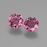 thumb image of 1.1ct Round Facet Pinkish Rose Rhodolite Garnet (ID: 440836)