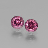 thumb image of 1.4ct Round Facet Pinkish Rose Rhodolite Garnet (ID: 440858)