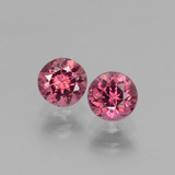 thumb image of 1.4ct Round Facet Pinkish Rose Rhodolite Garnet (ID: 440859)