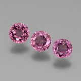 thumb image of 1.3ct Round Facet Pinkish Rose Rhodolite Garnet (ID: 440969)