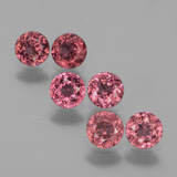 thumb image of 1.9ct Round Facet Pinkish Rose Rhodolite Garnet (ID: 441018)
