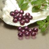 thumb image of 4ct Round Cabochon Purplish Red Rhodolite Garnet (ID: 493174)