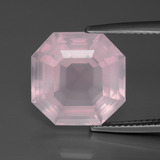 thumb image of 9.1ct Asscher Cut Pink Rose Quartz (ID: 392278)
