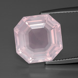 thumb image of 10.2ct Asscher Cut Pink Rose Quartz (ID: 392279)