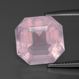thumb image of 10.6ct Asscher Cut Pink Rose Quartz (ID: 392283)