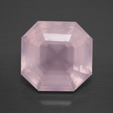 thumb image of 8.8ct Asscher Cut Pink Rose Quartz (ID: 392383)