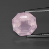 thumb image of 3.7ct Asscher Cut Pink Rose Quartz (ID: 393281)