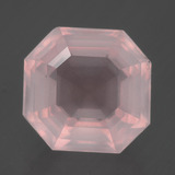 thumb image of 8.6ct Asscher Cut Pink Rose Quartz (ID: 393407)