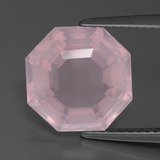 thumb image of 5.3ct Asscher Cut Pink Rose Quartz (ID: 393436)