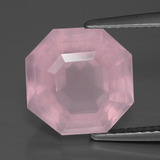 thumb image of 5.4ct Asscher Cut Pink Rose Quartz (ID: 393438)