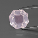 thumb image of 4.3ct Asscher Cut Pink Rose Quartz (ID: 393533)