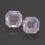 thumb image of 4.1ct Asscher Cut Pink Rose Quartz (ID: 394336)